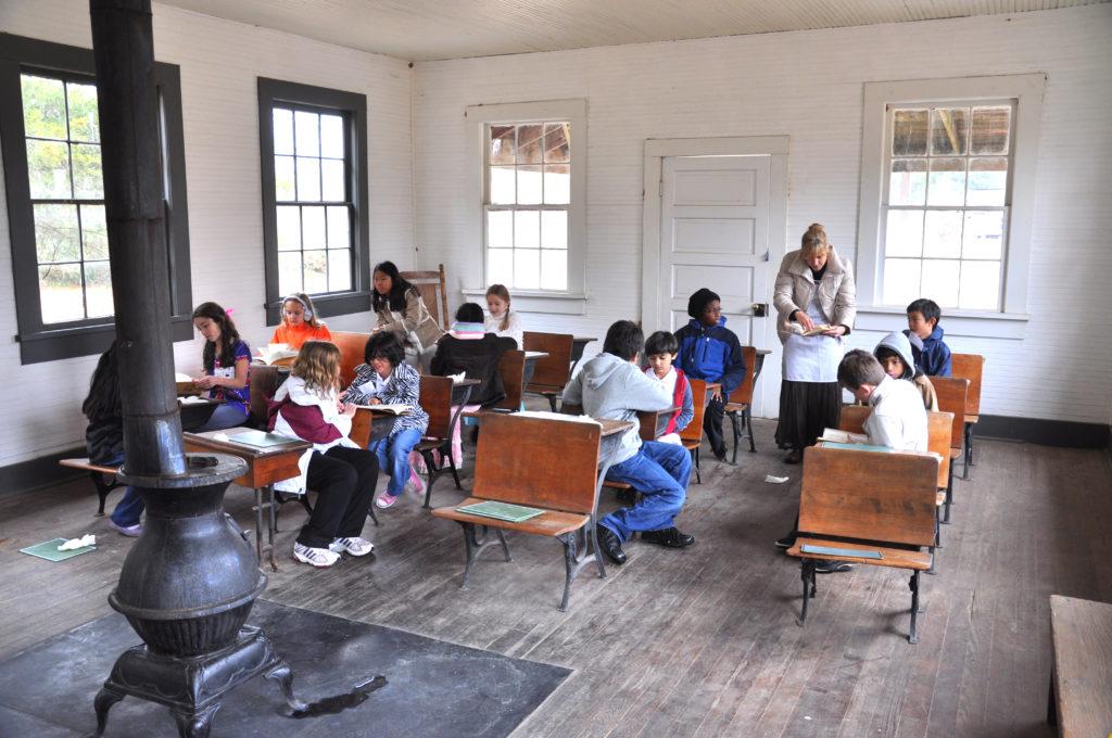 Children in Ames Schoolhouse