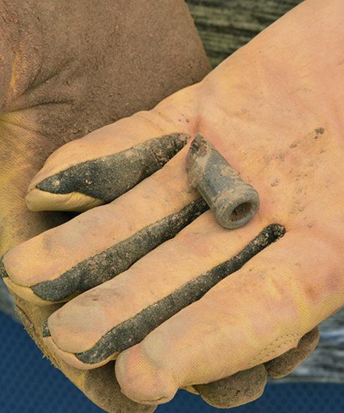 Archaeology dig artifact