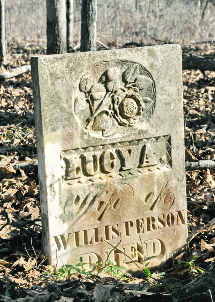 Gravestone of Lucy Person
