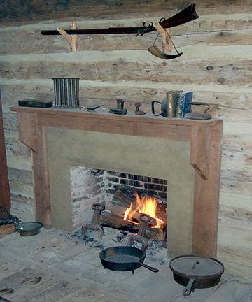 Fireplace in farmstead house