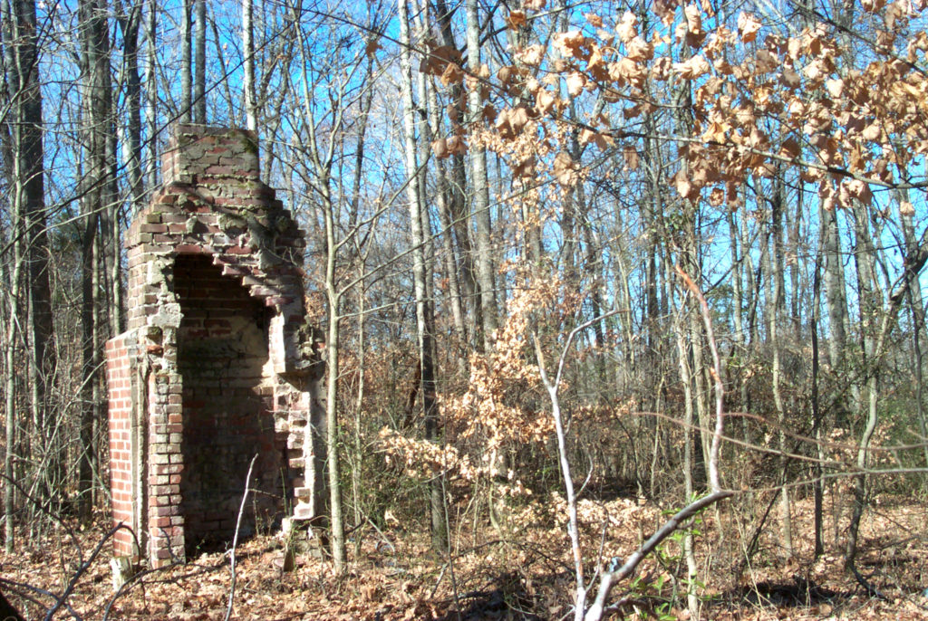Old chimney on historical site